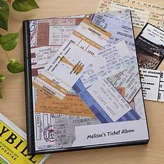 My Stubs Personalized Ticket Album...for my cousin mel who opened my eyes to all music and who took me to every concert in town. :) ily