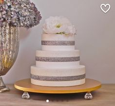 Gold Cake Stand Wedding Topper Bling Event Decor E Isabella Designs Featured In Martha Weddings