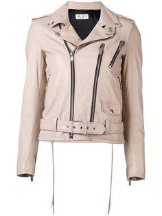 Shop Saint Laurent classic biker jacket.