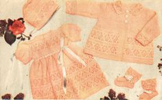 VCP235 baby pram suit vintage baby knitting pattern by Ellisadine, £1.15