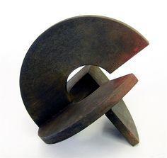 """RAMÓN URBÁN """"SECRETO ARTIFICIO XV"""" Técnica mixta, óxido sobre madera, 20 cm."""