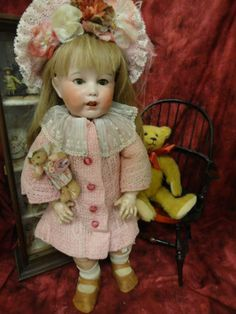 Antique Bisque French SFBJ Toddler 251 Character doll  Wobble Tongue 20