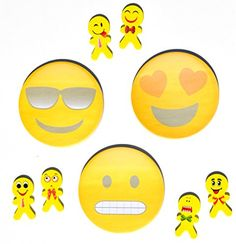This set of emoji notepads and erasers make going back to school lots of fun. They make a great teacher's gift or just something fun for a college dorm room. 3 Fun Emoji Sticky Notepads and 6 Silly Emoji Erasers Set will add fun to any desk Each sticky pad comes with the Emoji pictured …