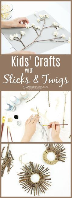 Kids' Crafts with Sticks and Twigs - Created in partnership with Today's Parent