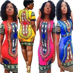 85c19b813ff New Fashion Sexy Women Summer Traditional African Print Dashiki Bodycon  Short Sleeve Mini Dress. Tight DressesPlus Size ...