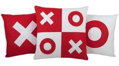 XOXO Red and White Valentine Wool Felt Decorative by SendASmooch, $59.00