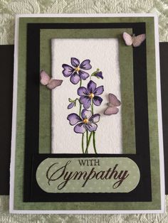 Sympathy card with butterfly