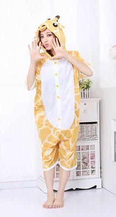 a3a6274ceb Giraffe Character Adult Spring and Summer Kigurumi Jumpsuit Adult Onesie  Pajamas
