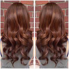 Warm Chestnut Brown Hair Color