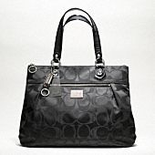 poppy signature bag coach - black or silver - Got this but in the Khaki and Silver and I LOOOVE it!