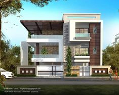 elevation architectural designs and planning quality contact us for more information. Independent House, House Front Design, Modern House Design, Facade Design, Exterior Design, Modern Architecture House, Architecture Design, Style At Home, Architect Design House