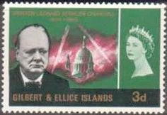 Gilbert and Ellice Islands 1966 Churchill Set Fine Mint SG 106 109 Scott 106 109 Other Gilbert and Ellice Stamps HERE