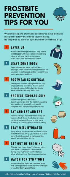 Winter hiking and snowshoeing demands extra safety precautions. Use these 8 tips to prevent frostbite, from Hiking For Her. #snowshoeing #hiking  #outdoorsafety Backpacking Tips, Hiking Tips, Hiking Gear, Hiking Backpack, Ultralight Backpacking, Camping Tips, Hiking Shoes, Baby Hiking, Bushcraft Camping