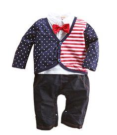 33a93828da8e StylesILove Baby Boy American Flag Inspired Tuxedo Romper Baby Boy Romper