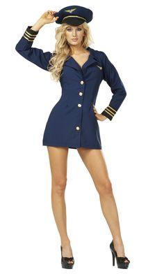Flight Captain Sexy Pilot Costume