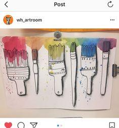 watercolor observational drawing paint Elementary Art Rooms, Art Lessons Elementary, Color Art Lessons, Observational Drawing, 2nd Grade Art, Kids Art Class, School Art Projects, Middle School Art, Elements Of Art