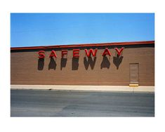"Wim Wenders / ""Safeway"", Corpus Christi, Texas ----- I was interested with this image because of the way Wenders has composed this photograph. The parallel lines guides the eye across the photograph"