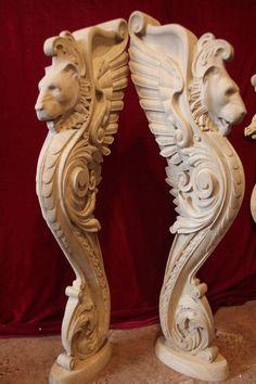 Wood Bed Design, Bg Design, Chair Design Wooden, Interior Design, Wooden Staircase Railing, Stairs, Victorian Style Decor, Wooden Corbels, Pooja Room Door Design