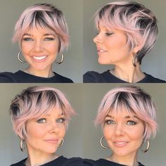 Hairstyles Over 50, Short Bob Hairstyles, Cool Hairstyles, Short Shaggy Haircuts, Curly Hair Cuts, Curly Hair Styles, Fine Hair Pixie Cut, Shaggy Pixie Cuts, Pixie Cut With Bangs