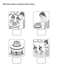Print Picture Sequence Worksheets , Worksheets For 1st