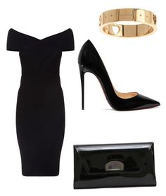 """""""Untitled #14"""" by xo-briana97-xo on Polyvore featuring Maje, Christian Louboutin and Gucci"""