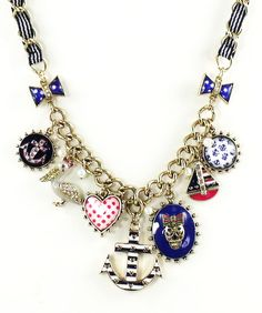 Betsey Johnson Jewelry IVY LEAGUE Anchor Charm Necklace