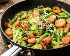 POELEE DE PRINTEMPS LEGUMES NOUVEAUX COOKEO Vegan Foods, Paleo Diet, 200 Calories, Cobb Salad, Green Beans, Potato Salad, Entrees, Menu, Health Fitness