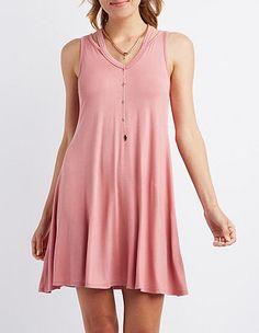 Cut-Out V-Neck Shift Dress #CharlotteLook