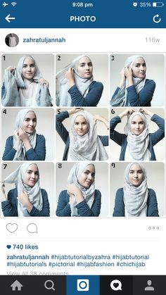 Everyday Hijab This tutorial is similar to many styles that have been … - Muslim Fashion Square Hijab Tutorial, Simple Hijab Tutorial, Hijab Style Tutorial, Islamic Fashion, Muslim Fashion, Hijab Fashion, Turban Hijab, Stylish Hijab, Hijab Chic