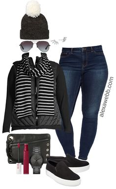 Plus Size Black Vest Outfit Ideas - Plus Size Casual Winter Outfits - Plus Size Fashion for Women - ladiesfashion Casual Winter Outfits, Winter Outfits For Teen Girls, Winter Outfits Women, Trendy Outfits, Black Vest Outfit, Vest Outfits, Mode Outfits, Fashion Outfits, Fashion Boots