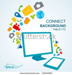 tablet pc copy file computer / vector no effect by photovs, via ShutterStock Computer Vector, Kids Rugs, Display, Logos, Ticket, Google, Computers, Artists, Floor Space