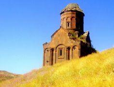 Armenian church ruins in Ani, Anatolia, Turkey