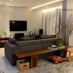 Behind Couch, Couch Table, Master Room, Deco Design, Living Room Designs, Family Room, House Design, Interior Design, Furniture