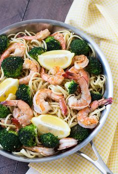 Cajun Delicacies Is A Lot More Than Just Yet Another Food Lemon Broccoli Shrimp Pasta - An Easy, Light And Flavorful Shrimp Dish That's Perfect Any Night Of The Week Garlic Parmesan Shrimp, Shrimp And Broccoli, Shrimp Pasta Dishes, Lemon Pasta, Shrimp Recipes, How To Cook Pasta, Easy Light, Healthy Recipes, Dinner Ideas