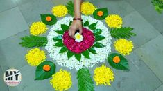 How to Make Easy Rangoli for Diwali Easy Diwali Rangoli, Rangoli Designs Diwali, Rangoli Designs Images, Simple Rangoli, Diwali Diya, Rangoli Designs Flower, Flower Rangoli, Beautiful Rangoli Designs, Free Hand Rangoli Design