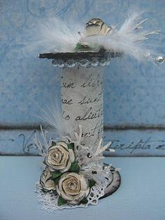 Anette's Scrapblog: Papieren klosjes/ paper spools