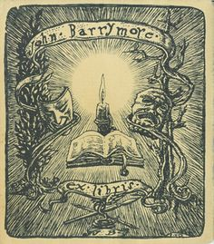 John Barrymore's bookplate