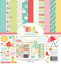 Echo Park: Sunny Days Ahead  SDA82016_Sunny_Days_Collection_Kit_F