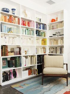 Bookcase wall. A must for our new, small apartment.