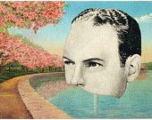 Nowhere Man. An Altered Postcard Collage