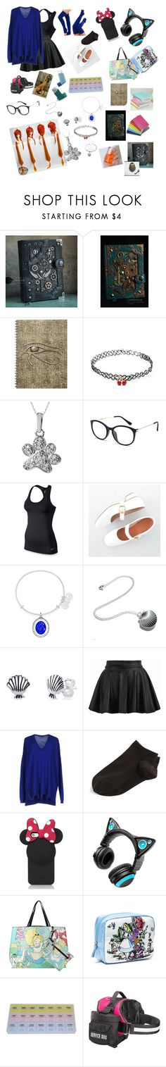"""My Life with multiple things wrong"" by gam-gam ❤ liked on Polyvore featuring Forever 21, ASPCA, Full Tilt, NIKE, Alex and Ani, Disney, WithChic, Barbara Bui, Wolford and Kate Spade"