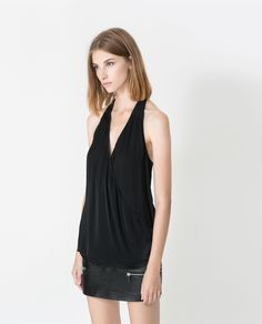 ZARA - TRF - V-NECK CROSSOVER TOP