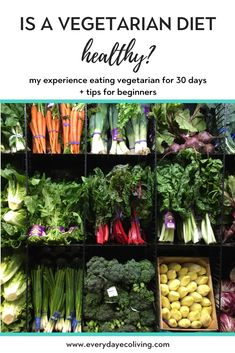 My Experience Eating Vegetarian Meals for 30 Days Eating a plant-based diet is one way to cut back on your carbon footprint. Read below to see how my 30 days of vegetarian meals went! Healthy Vegetarian Diet, Healthy Kids, Healthy Food, Healthy Eating, Going Vegetarian, Vegan Nutrition, Vegetarian Breakfast, Vegetarian Dinners, Vegetarian Cooking