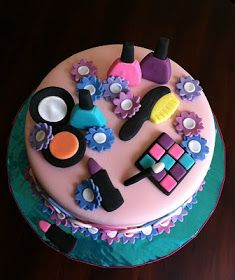 Makeup Kit Cake Design : 6 year old girl birthday cakes spa themed birthday cake ...