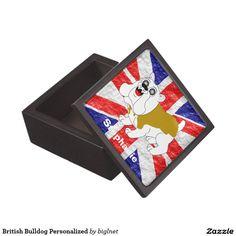 British Bulldog Personalized Premium Keepsake Boxes