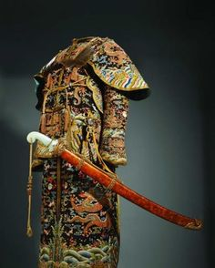 Ceremonial imperial Qing Dynasty armor and sword.