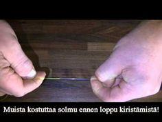 Kuitu ja monofilsiiman yhdistys solmu - YouTube
