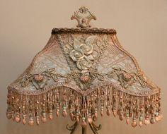 Nightshades - Edwardian Style Lampshade on Antique Lamp Base