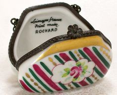 Vintage Limoges Hand Painted Purse