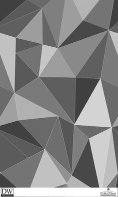 Papier peint Facet de la collection Geometric de Cole and Son. Funky Wallpaper, Cole And Son Wallpaper, Luxury Wallpaper, Geometric Wallpaper, Geometric Art, Pattern Wallpaper, Geometric Patterns, Custom Wallpaper, Nursery Wallpaper